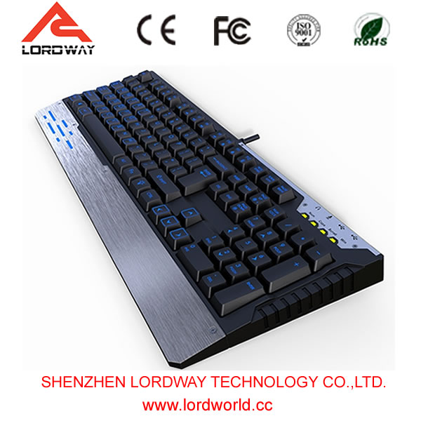 China supplier 2017 electronics laser keycaps Computer gaming Keyboard mechanical keyboard with backlit