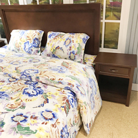 Chinese style king size quality luxury flannel fleece printed bed sheet bedding set 4PCs