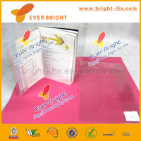 Customized color PVC book cover/ Excercise notebook cover Plastic book cover
