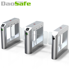 Security RFID Card Access Control Optical Slim Swing Turnstile