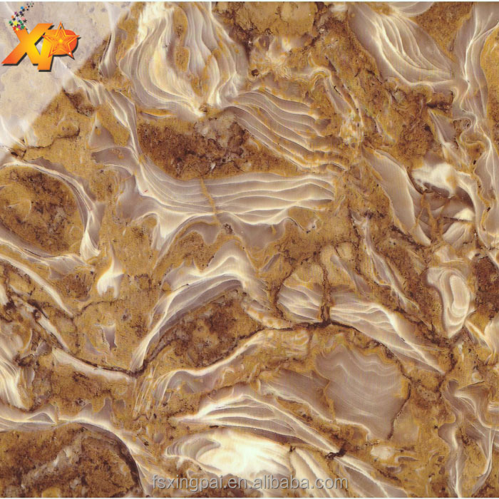 3D marble design PVC film, hot lamination marble grain pvc TV wall decorative film