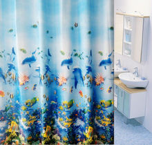 Bathroom Accessories Home Goods Printed PEVA Window Curtain As Shower Curtains