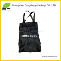 Promotional 190t polyester folding shopping bag