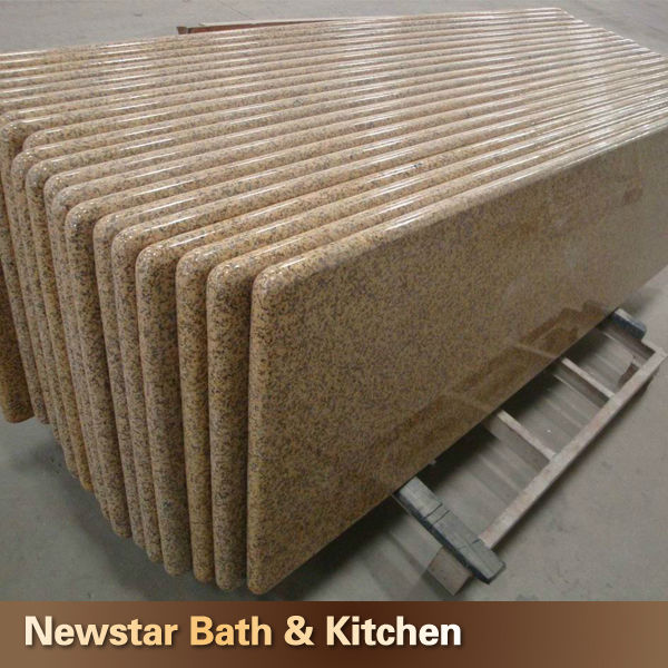 G682 yellow golden granite discount bathroom countertops