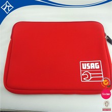 Custom Red Neoprene Laptop Bag Sleeve For Surface Pro 4