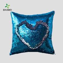 wholesale Two Side Colors Magic Mermaid Reversible Sequin throw Pillow /Fabric Color Changing For DIY Pillow cover