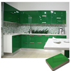 Green high glossy UV paint MDF