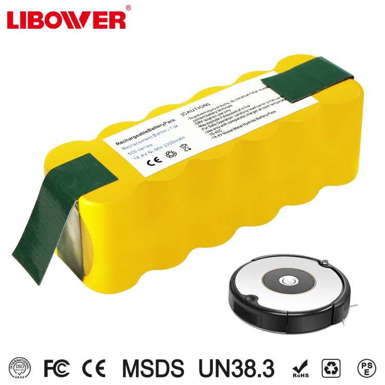 Replacment 3000mAh Ni-MH Vacuum Cleaner Battery Pack for Irobots Roomba/500/510/530/532/535