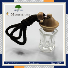 Auto new design very popular liquid hanging car air freshener glass oil empty bottle