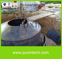 PUXIN design 10m3 small biogas plant for electric power generation