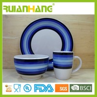 portugal Reactive glaze stoneware dinnerware set
