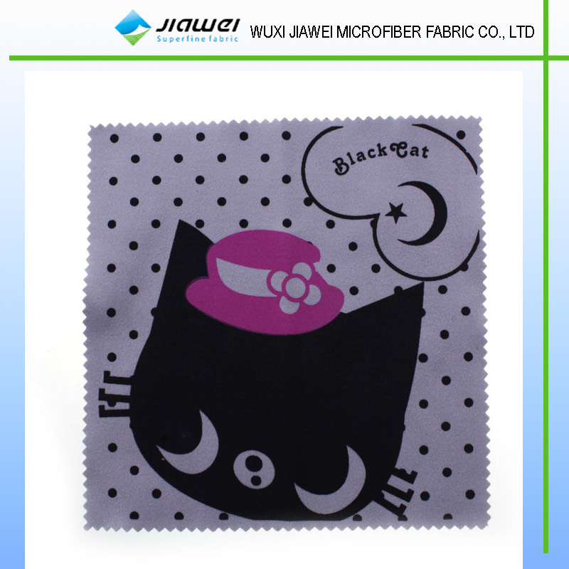 cotton cat printed microfiber cleaning cloth