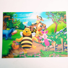 Carton fashion PP/PET print vinyl placemat hot sale for kids children