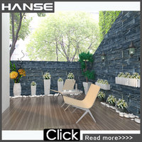 HS-SN003 antient style grey cheap stone brick for garden cladding