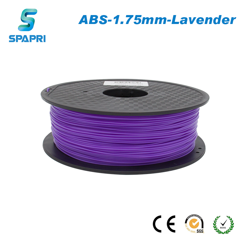 New Arrivals SPAPRI Lavender <strong>ABS</strong> 3D Printer Filament