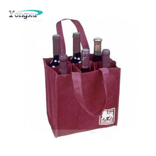 Pingyang Professional Bag Factory Non Woven Wine Bag 6 Bottle
