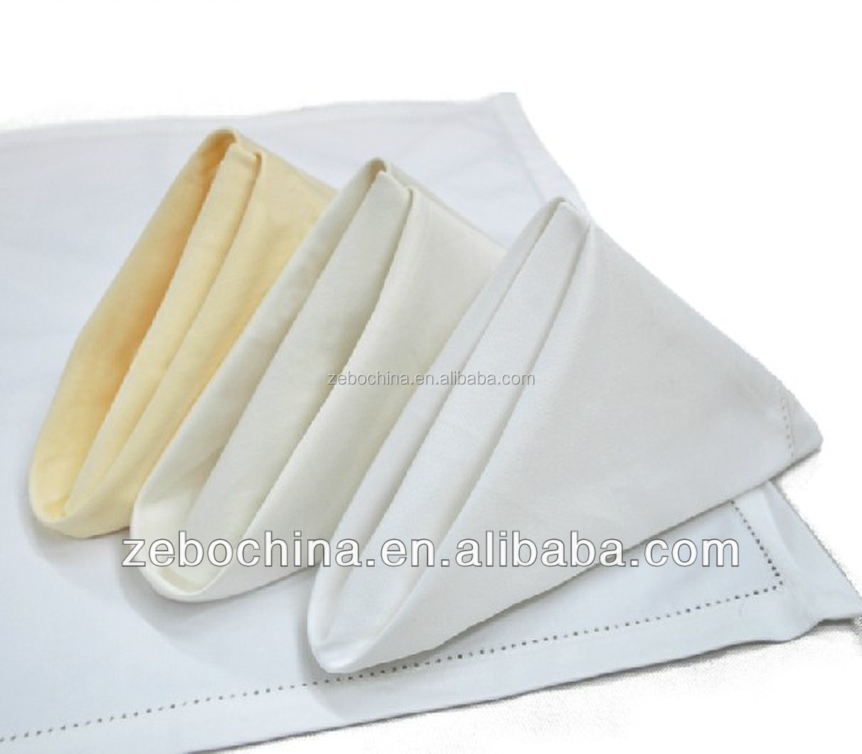 Hot selling design direct factory made luxury wholesale cotton hotel dinner napkins linen
