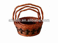 TRADITIONAL FRENCH SMALL RUSTIC TRUG BASKET LOVELY