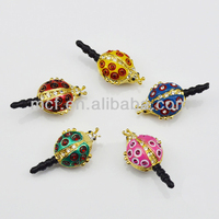 Funny decorated wholesale ladybug mobile earphone cell phone cute anti dust plug MCD-0082