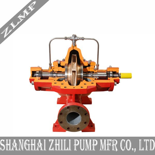 Horizontal double suction volute split case water pump