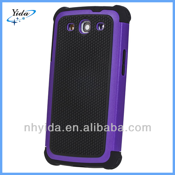 New Arrival Touch Combo Hybird PC + Silicone Cellphone Case For Samsung Galaxy I9300