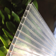 100% virgin bayer material PC building material polycarbonate two wall sunshine sheet