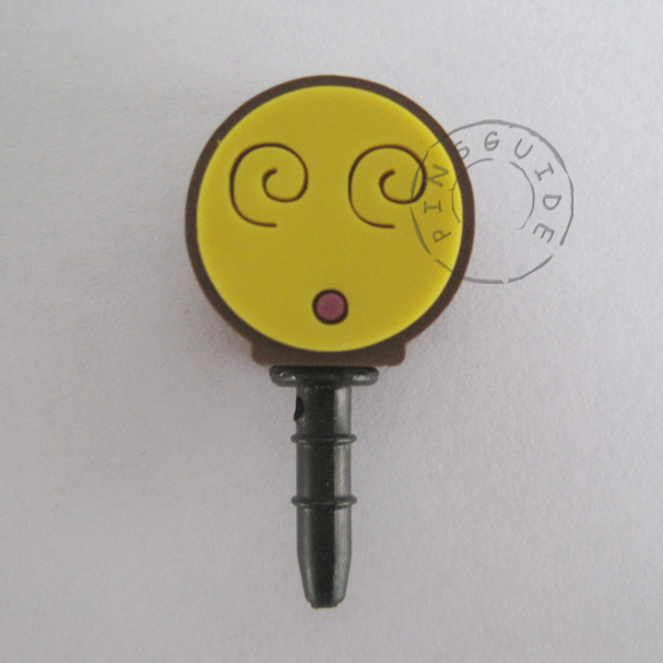 lovely design mobile phone anti dust plug,cartoon phone dust plug