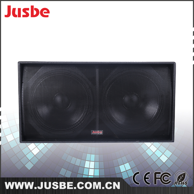 Jusbe S218 p audio subwoofer / dual 18 inch subwoofer / harga speaker subwoofer 18 inch car bass