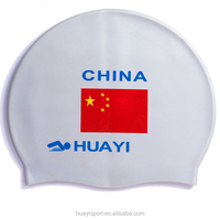 2016 new fashion national flag swim cap,flag pattern design adult Eco-friendly silicone swim cap