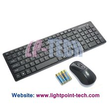 Ultra-thin intuitive 2.4GHz wireless keyboard and mouse combo