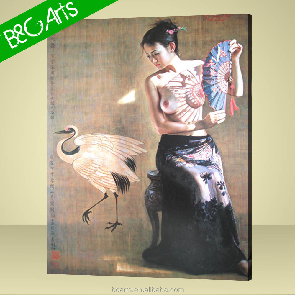 Modern naked high quality sexy girl sample picture of canvas painting
