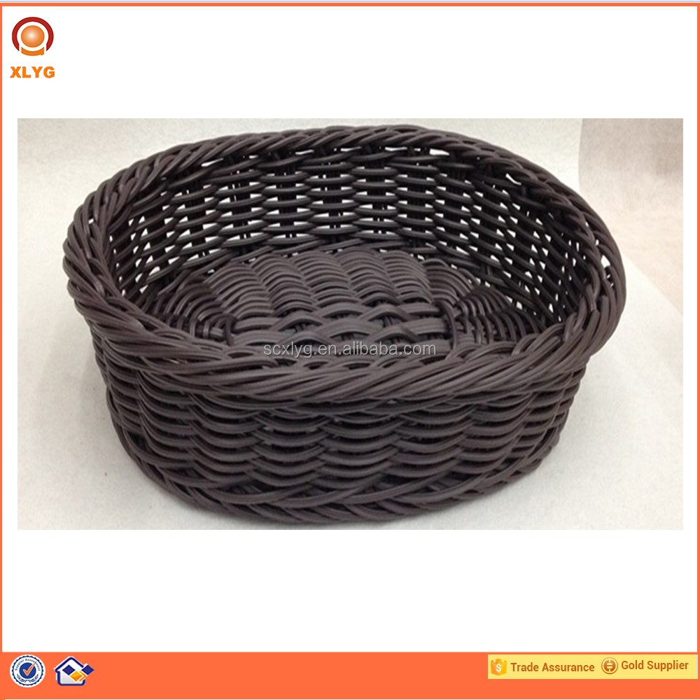 Oval poly rattan basket malaysia for supermarket
