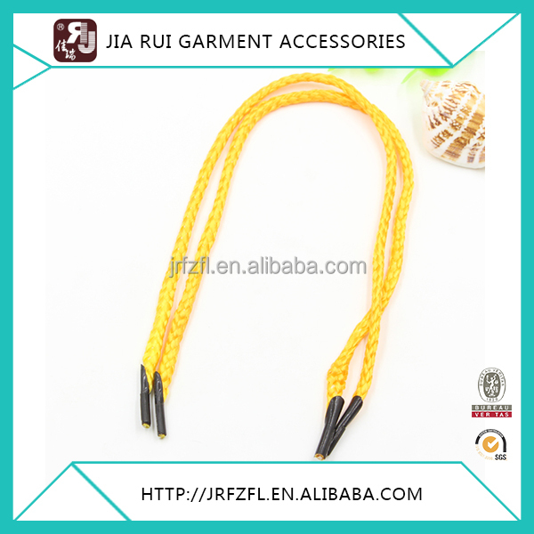 Yellow polyester knitted rope colorful braid bags handle cord