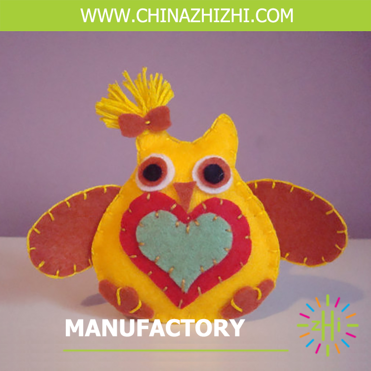 new product diy toys felt orange yellow owl manufacturer china
