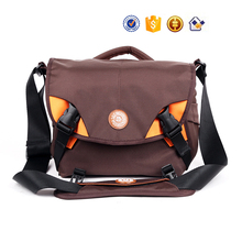 QM01 Brown nylon waterproof DSLR Digital shoulder travel camera bag case for camera lens
