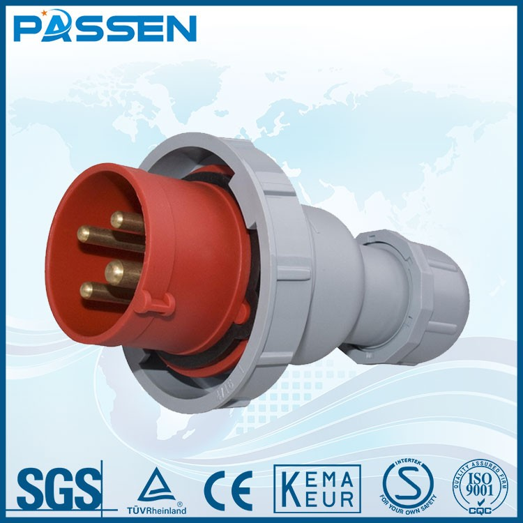 PASSEN High quality powerful 32a industrial electrical plug and socket