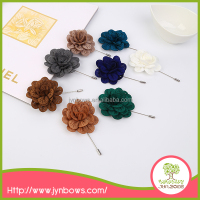 new design custom felt fabric lapel pin,men's flower lapel pin for suit