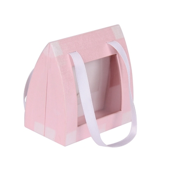 Hot sale cardboard magnetic leatherette earring gift box with handle