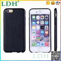 back cover for Apple iphone 6 leather cases covers high quality ultra thin luxury style factory price wholesale 50pcs/lot