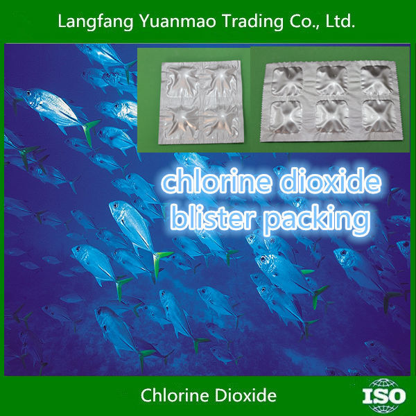Chlorine Dioxide Blister Packing/Alibaba Bestsale/Eco-friendly Disinfectant Fungicide Chemicals for Aquaculture