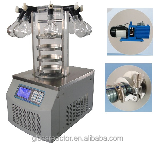 snake venom vacuum freeze dryer Vacuum Freeze Dryer For Food And Pharmaceutals Production LCD touch display lyophilizer