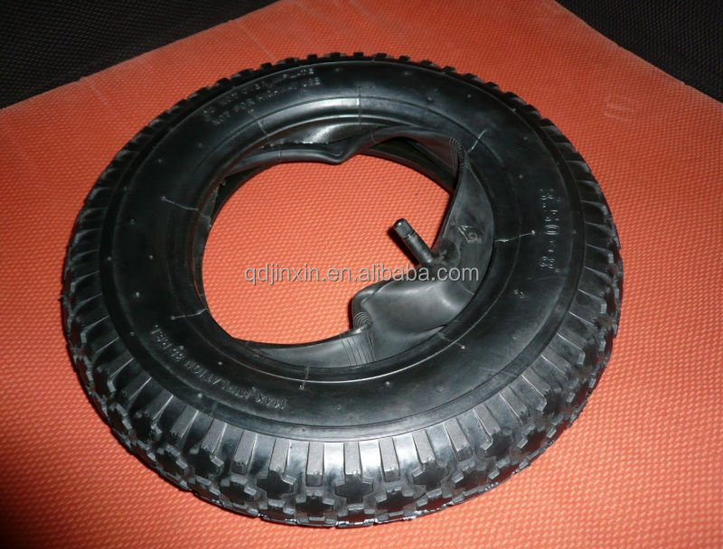 14inch diamond pattern Tyre and tube 3.50-8