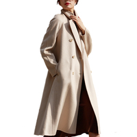 2019 England Elegant Style Loose Ladies Winter Korean Pure Women Long Wool Coat