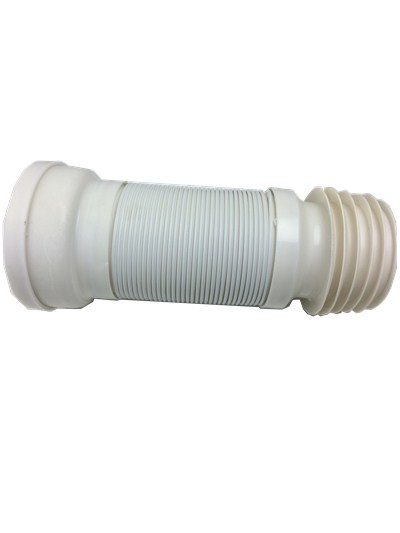 Sanitary Ware plastic flexible white W.C. pipe 110MM*550MM