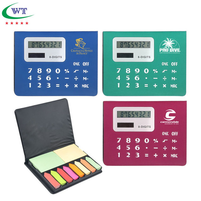 sticky notes memo holder mini calculator