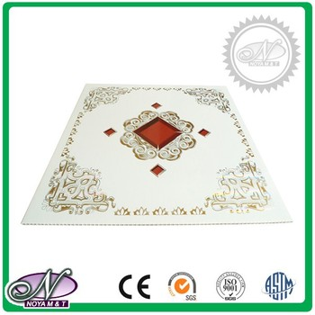 Construction materials cheap price pvc suspending ceiling panel