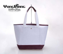 fashion new product white + purple suede canvas bag