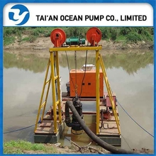 Electric motor submersible dredge pump with explosion-proof