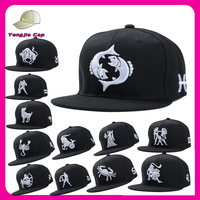 design your own Custom embroidery snapback hat/cap wholesale