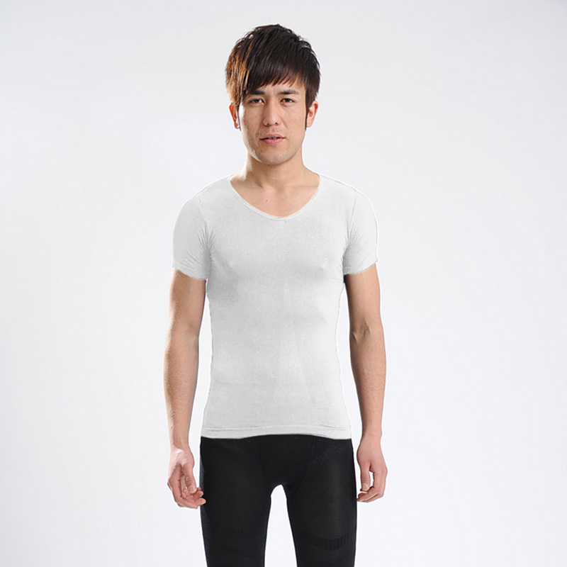 Sliming Shaper as seen on TV Cheap China Wholesale Men's Tight 3/4 Sleeve T Shirt Y60